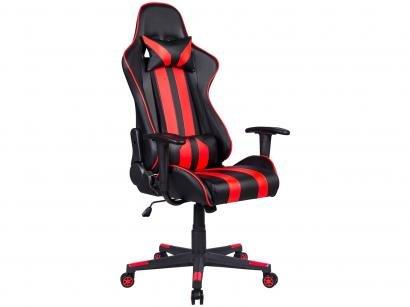 Cadeira Gamer Travel Max Reclinável - Preta e Vermelha Sports