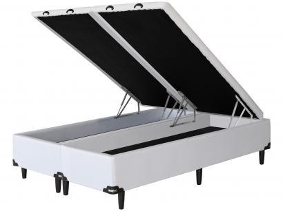 Base Cama Box Queen Size Umaflex com Baú - Bipartido 29cm de Altura Facility