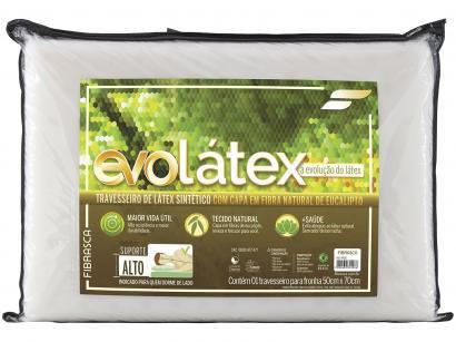 Travesseiro Fibrasca de Pescoço Evolátex Alto - 789663034428