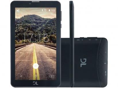 "Tablet DL Mobi Tab 8GB 7"" 3G Wi-Fi - Android 7 Nougat Proc. Quad Core Câmera..."