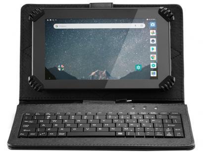"""Tablet Multilaser M7S Plus com Teclado 8GB 7"""" - Wi-Fi Android 7.0 Quad Core com..."""