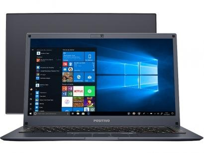 "Notebook Positivo Motion Plus Q464B Intel - Quad Core 4GB eMMC 64GB 14"" Windows..."