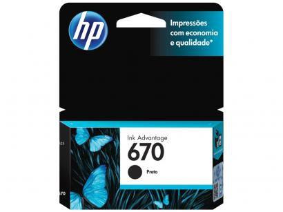 Cartucho de Tinta HP Preto 670 - Original