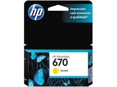 Cartucho de Tinta HP 670 Amarelo - Original