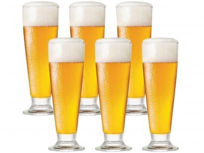 Jogo de Copos de Vidro para Cerveja 300ml - 6 Peças Ruvolo Glass Company Tulipa
