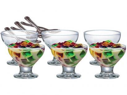 Jogo de Sobremesa Vidro 12 Peças Ruvolo - Klassikglass Paradise