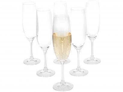 Jogo de Taças para Champagne Vidro 6 Peças 220ml - Bohemia Roberta