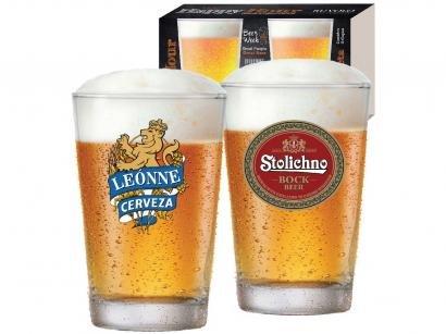 Jogo de Copos de Vidro para Cerveja 300ml - 2 Peças Ruvolo Caldereta