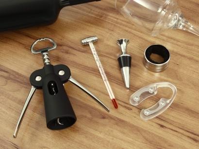 Kit para Vinho Inox 5 Peças Euro Home - ZR4286