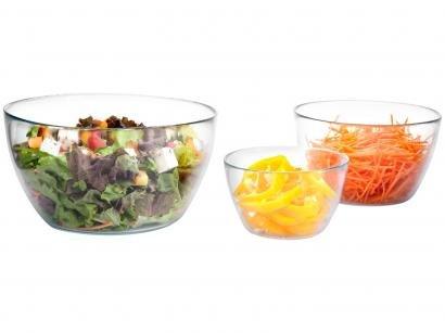 Conjunto de Bowls de Vidro Ruvolo New Gourmet - Tropical 3 Peças