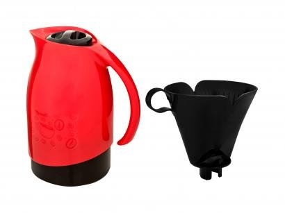 Bule de Chá e Café Térmico Vermelho - com Filtro de Café 700ml Sanremo Cuidar