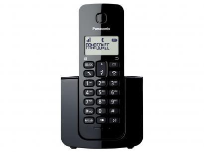 Telefone Sem Fio Panasonic TGB110 - Identificador de Chamada Black Piano
