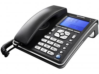 Telefone com Fio Ibratele Capta Phone Top - Identificador de Chamada Viva Voz...