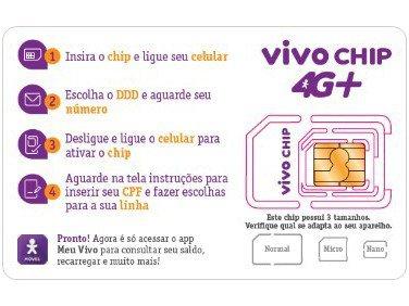 Vivo Chip Triplo Corte 4G - Pré-Pago/Pós-Pago