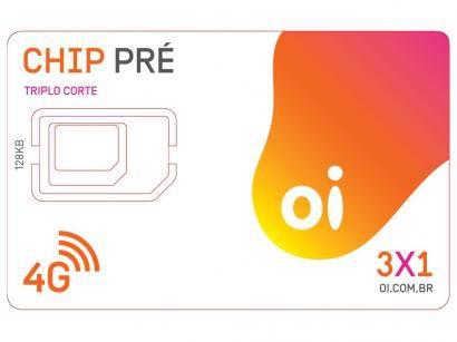 Chip Oi 3 em 1 Pré - DDD 49 SC Tecnologia 4G