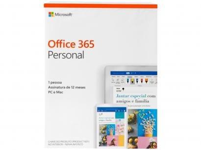Pacote Office 365 Personal 1 Ano Digital - Microsoft