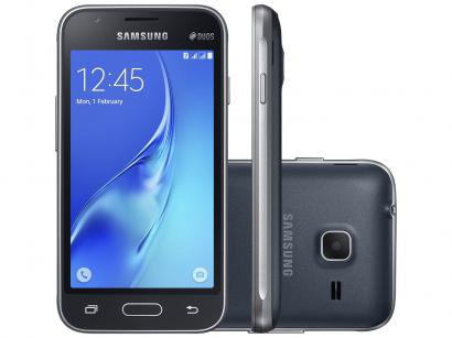 "Smartphone Samsung Galaxy J1 Mini 8GB Preto - Dual Chip 3G Câm. 5MP Tela 4.0""..."