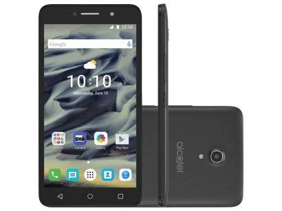 Smartphone Alcatel PIXI4 6 8GB Preto Dual Chip - 3G Câm. 13MP + Selfie 8MP...
