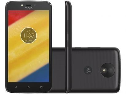 """Smartphone Motorola Moto C Plus 16GB Preto - Dual Chip 4G Câm. 8MP Tela 5"""" HD..."""