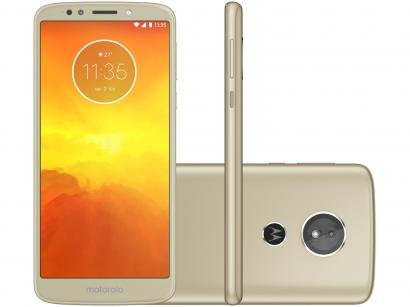Smartphone Motorola Moto E5 16GB Ouro - Dual Chip 4G Câm 13MP + Selfie 5MP...
