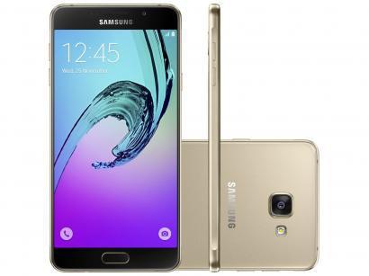 Smartphone Samsung Galaxy A7 2016 Duos 16GB - Dourado Dual Chip 4G Câm 13MP +...