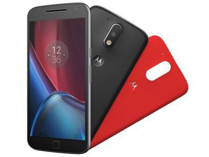 Smartphone Motorola Moto G 4ª Geração Plus 32GB - Preto Dual Chip 4G Câm 16MP +...