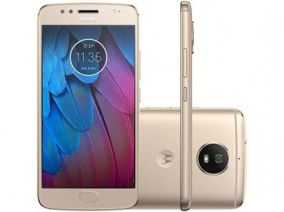 Smartphone Motorola Moto G5s 32GB Ouro - Dual Chip 4G Câm. 16MP + Selfie 5MP...