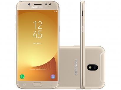 Smartphone Samsung Galaxy J5 Pro 32GB Dourado - Dual Chip 4G Câm. 13MP Tela...