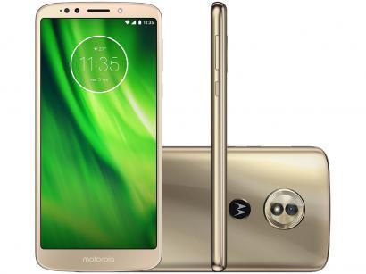 Smartphone Motorola Moto G6 Play 32GB Ouro - Dual Chip 4G Câm 13MP + Selfie 8MP...