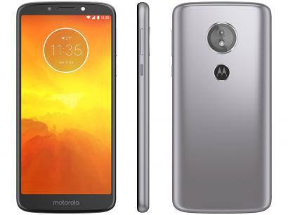 "Smartphone Motorola Moto E5 32GB Platinum 4G - Quad Core 2GB RAM Tela 5,7"" Câm...."