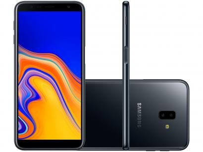 "Smartphone Samsung Galaxy J6+ 32GB Preto 4G - 3GB RAM Tela 6"" Câm. Dupla + Câm...."