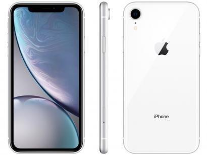 "iPhone XR Apple 64GB Branco 4G Tela 6,1"" Retina - Câmera 12MP + Selfie 7MP iOS..."