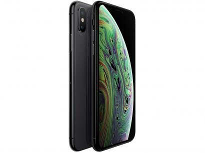 "iPhone XS Max Apple 64GB Cinza Espacial 4G - Tela 6,5"" Retina Câmera Dupla 12MP..."