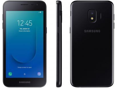 "Smartphone Samsung Galaxy J2 Core 16GB Preto - 4G 1GB RAM Tela 5"" Câm. 8MP +..."
