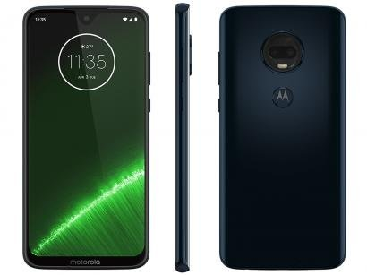 "Smartphone Motorola G7 Plus 64GB Indigo 4G - 4GB RAM Tela 6,24"" Câm. Dupla + Câm. Selfie 12MP"