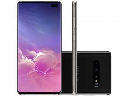 Smartphone Samsung Galaxy S10+ 128GB Preto 4G - 8GB RAM Tela 6,4 Câm. Tripla +...