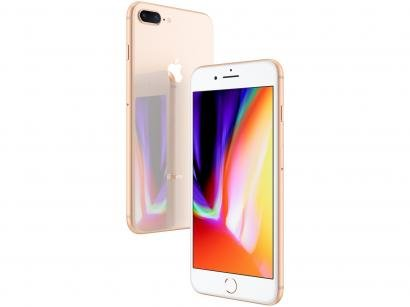 "iPhone 8 Plus Apple 64GB Dourado 4G - Tela 5,5"" Retina Câmera Dupla 12MP iOS 11"