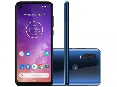 "Smartphone Motorola One Vision 128GB Azul Safira - 4G 4GB RAM 6,34"" Câm. Dupla..."