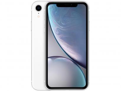 "iPhone XR Apple 64GB Branco 4G Tela 6,1"" Retina - Câmera 12MP + Selfie 7MP..."