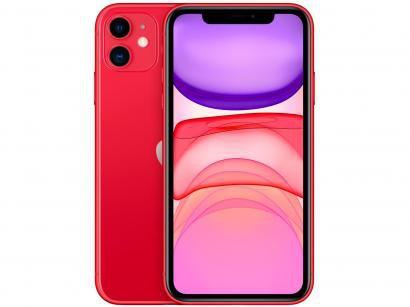 "iPhone 11 Apple 256GB Produtc Red 4G Tela 6,1"" - Retina Câmera Dupla 12MP +..."