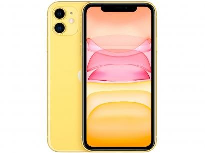 "iPhone 11 Apple 256GB Amarelo 4G Tela 6,1"" Retina - Câmera Dupla 12MP + Selfie..."