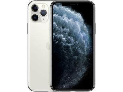 "iPhone 11 Pro Apple 512GB Prata 4G Tela 5,8"" - Retina Câmera Tripla 12MP +..."