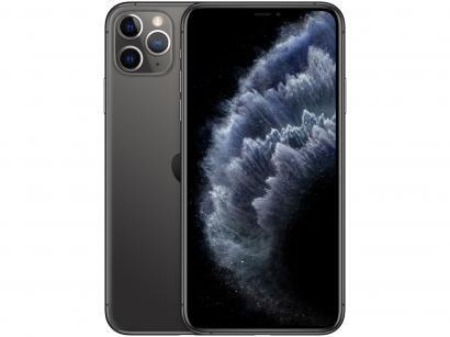 "iPhone 11 Pro Max Apple 64GB Cinza Espacial 4G - Tela 6,5"" Retina Câmera Tripla..."
