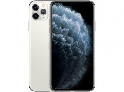 "iPhone 11 Pro Max Apple 512GB Prata 4G Tela 6,5"" - Retina Câmera Tripla 12MP +..."