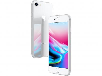 "iPhone 8 Apple 128GB Prata 4G Tela 4,7"" Retina - Câmera 12MP + Selfie 7MP iOS..."