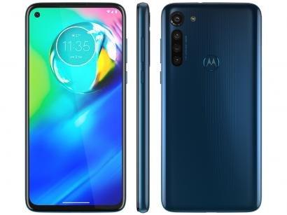 "Smartphone Motorola Moto G8 Power 64GB Azul - Atlântico 4G 4GB RAM Tela 6,4"" Câm. Quádrupla"