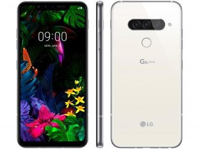 "Smartphone LG G8S 128GB Branco 4G Octa-Core - 6GB RAM Tela 6,21"" Câm. Tripla +..."