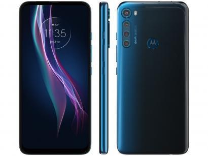 """Smartphone Motorola One Fusion+ 128GB Azul Indigo - 4G 4GB RAM Tela 6,5"""" Câm. Quádrupla + Selfie 16MP"""