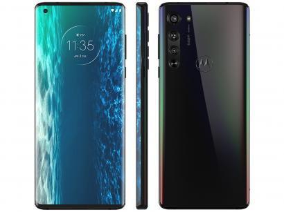 "Smartphone Motorola Edge 128GB Solar Black 6GB RAM - Tela 6,7"" Câm. Quádrupla + Selfie 25MP"