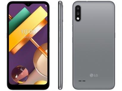 "Smartphone LG K22+ 64GB Titan 4G Quad-Core 3GB RAM - Tela 6,2"" Câm. Dupla + Selfie 5MP Dual Chip"